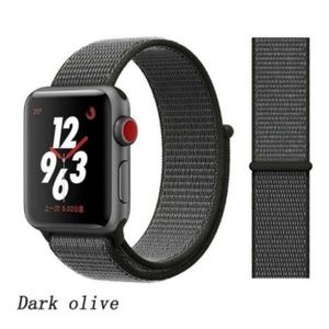 ❤️NEW Black Grey Sport Loop Strap For Apple Watch